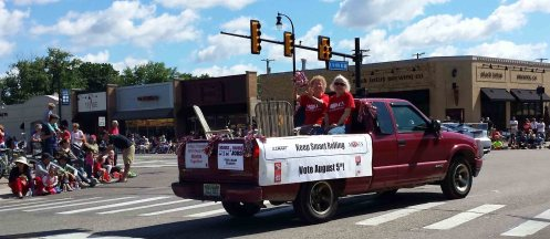 We get out the vote for SMART in the Clawson July 4 parade.